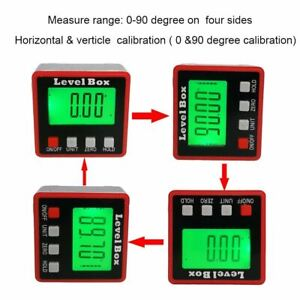 Red Digital Protractor angle finder Protractor electronic level box 360 Degree d $22.92