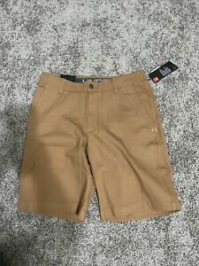 New Nwt under Armour mens shorts 32 10 Inseam Msrp 64.99 Loose Khaki Tan Brown $44.99