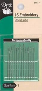Embroidery Hand Needles Size 7 16 Pkg $5.59