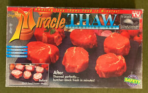1995 Original MIRACLE THAW Genuine Food Defrosting Tray Defrost Platter