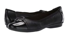 Clarks Collection Leather or Suede Flats Gracelin Wind Black $24.99