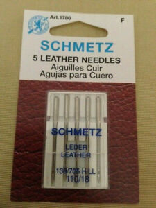 LOT OF 5 SCHMETZ LEATHER NEEDLES 130 705 H LL 110 18 1786 NEW $4.24