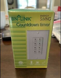 BN LINK Countdown Digital In wall Timer 5 10 20 30 45 60mins White for light $13.88