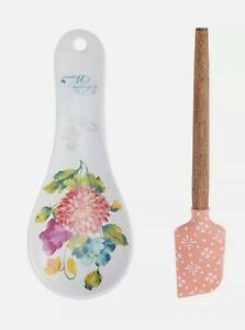 The Pioneer Woman 2 piece Spoon Rest and Spatula Set in Blooming Bouquet