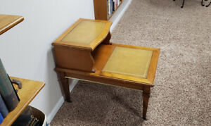 Antique Table with Leather Inlay $200.00