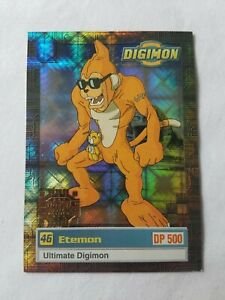 DIGIMON ETEMON #46 ULTIMATE GOLD STAMP EXCLUSIVE PREVIEW NM 1999 U3 OF 8 HOLO $89.99