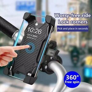 Bicycle Motorcycle MTB Bike Stand Handlebar Silicone Mount Holder For Cell Phone $8.79