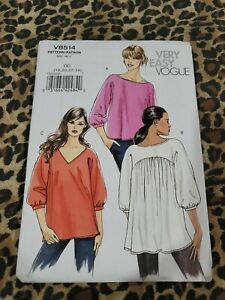 VOGUE VERY EASY Sewing Pattern V8514 MISSES TOP 18 24 Un Cut 2263 $14.41