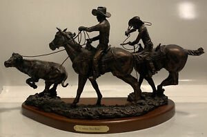 quot;Cowboy Two Stepquot; Rare Discontinued Montana Silversmith Statue Bronze Western $200.00