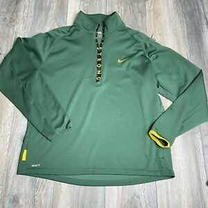 Nike Athletic Pullover Green Livestrong Half Zip Dry Fit Shirt Men Size XL $26.63