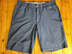 UNDER ARMOUR Golf Shorts Navy Blue Mens Size 34 Flat Front $24.00