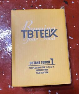 TBTEEK Butane Torch Kitchen Torch Cooking Torch with Safety Lock and Flame V