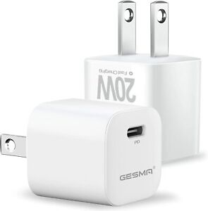2X iPhone 12 Pro 11 12 Pro Max XR iPad Fast Charger 20W PD Power Adapter Type C