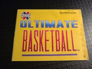 Ultimate Basketball Instruction Manual Only Nintendo Entertainment System 1990 $4.90