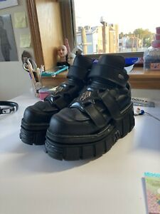 NEW ROCK lightly used boots W US 12 or EU 43