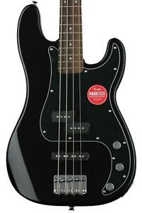 Squier Affinity Series Precision Bass PJ Black with Indian Laurel Fingerboard