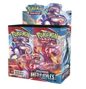 10 Battle Styles Booster Pack Lot From Factory Sealed Pokemon Booster Box $39.95