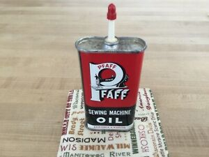 Vintage NEW Pfaff sewing machine oil can red black and white new $20.99
