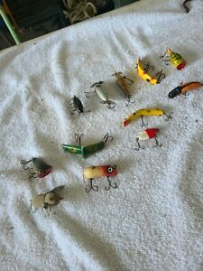 Antique wooden lure fishing lot $49.99