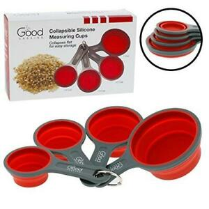 Collapsible Measuring Cups 4pc Nesting Silicone Dry Measuring Cup Set BPA