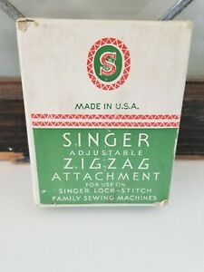 Vintage Singer Zig Zag Sewing Machine Attachment 121706 With Box amp; Manual USA $74.00