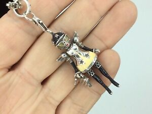 SUPERB RARE Thomas Sabo Silver Angle Doll Wing Pendant Enamelled amp; Belcher Chain GBP 320.00