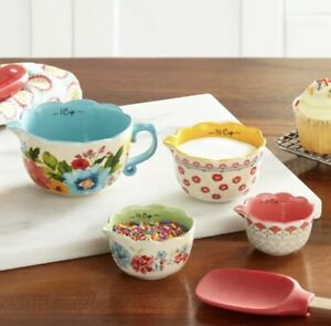 Pioneer Woman Measuring Bowl Set Breezy Blossom Stackable 4 Piece