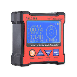 Dual Axis Digital Angle Protractor High Precision Dual Axis Display Level Gauge $91.16