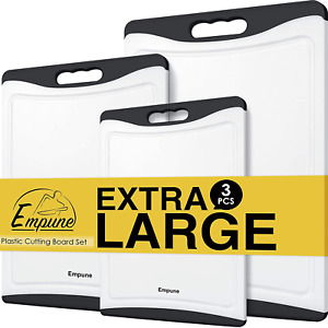 Extra Large Cutting Boards Plastic Cutting Boards for Kitchen Set of 3 Cuttin $20.21