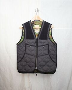 MONITALY Quilted black and camo vest USA made size 40