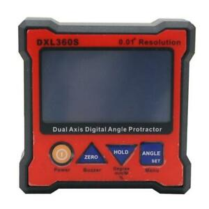 DXL360S Dual Axis Digital Angle Protractor with 5 Side Magnetic Base Display $81.17