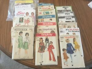 18 OLD SEWING PATTERNS. 50's thru 90's. SEE PHOTOS $16.00