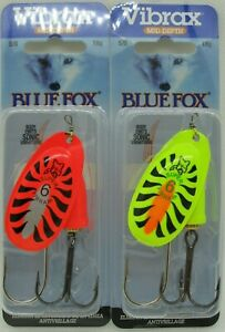 2 BLUE FOX Classic Vibrax Spinners Size 6 5 8 oz. Two Popular Colors