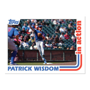 Patrick Wisdom FROM 2021 Throwback Thursday Set #41 1982 Baseball In Action $5.99
