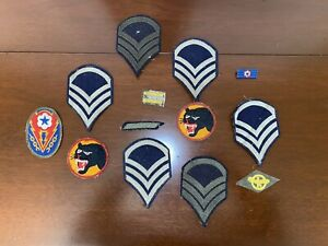 Vintage Military Patches amp; Pin $9.99