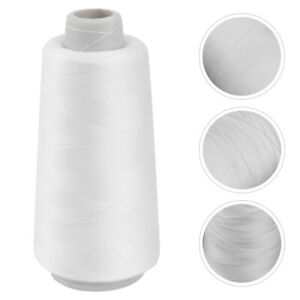 Bleached 3000 Yards Polyester Sewing Thread for Sewing Machine White $5.99