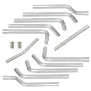 Complete 16pcs Dual Pipe Mandrel EXHAUST Bent Tube For 2.5 Stainless Universal $199.95
