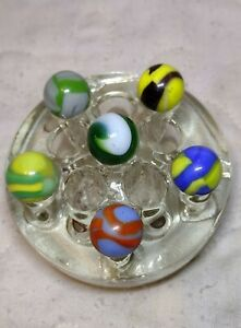 Old Machine Made Marbles Vintage Toys Marble King ? Akro ? Lot of Six Used $16.89