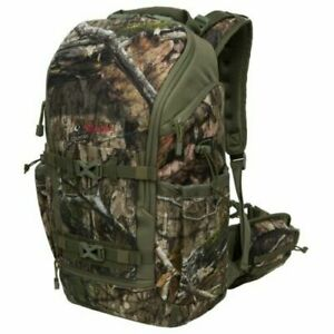 Pursuit Gear Camo Hunting Backpack Stowable Lashing Straps Unisex Green