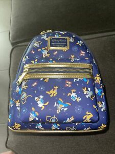 2021 Disney Parks Loungefly 50th Anniversary Backpack Mickey Mouse PRINT VARIES $160.00