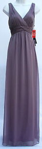 Adrianna Papell lilac chiffon full lenght gown evening occasion dress sz 6 new $39.00