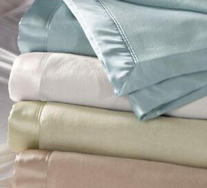 Bloomingdale Silk Blanket 5 color White Blue Taupe Gray Navy $199.00