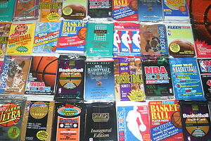 GREAT LOT OF OLD UNOPENED BASKETBALL CARDS IN PACKS