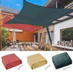18 x18 Deluxe Square Sun Shade Sail UV Top Cover Outdoor Canopy Patio Lawn Opt $59.90