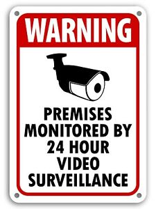 Warning Video Surveillance Sign Video Monitor Sign under 24 hour cctv BURGLAR