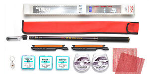 Tenkara Style 10ft rod WDC with Furled Tapered leader Line Winder Tippet Kit2