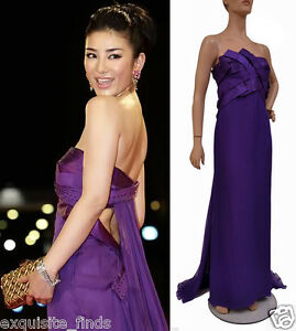 $18145 NEW VERSACE EMBELLISHED SILK LONG DRESS GOWN 44 - 8 ***STAR'S CHOICE!