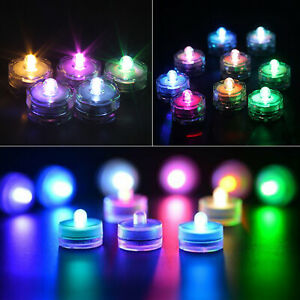 10x LED Tea Light Flameless Candles Submersible Waterproof Wedding Party Decor