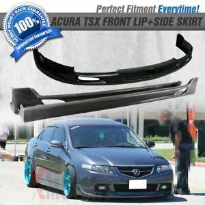 Fits 04-05 Acura TSX MG Style Urethane Front Bumper Lip Spoiler + Side Skirt