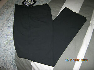 NWT Mens Under Armour Waterproof Nylon Flat Front Storm Golf Pants in Black